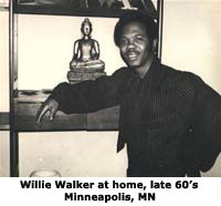 Willie Walker in his living room  late 60s  Minneapolis, MN
