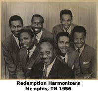 Willie Walker with the Redemption Harmonizers1956 Memphis, TN
