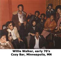 Willie Walker Cozy Bar Early 70s Minneapolis, MN